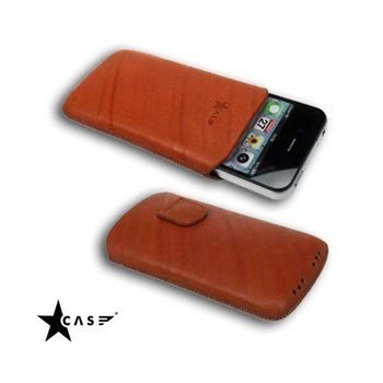 iPhone 4 / 4S StarCase Linea Leather Case Tobacco