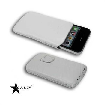 iPhone 4 / 4S StarCase Linea Leather Case White