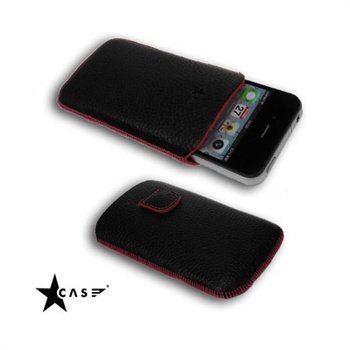 iPhone 4 / 4S Starcase Gutti Leather Case Magenta