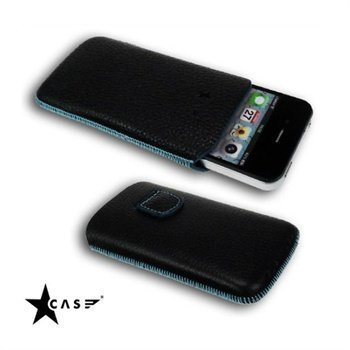 iPhone 4 / 4S Starcase Gutti Leather Case Turquoise