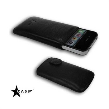 iPhone 4 / 4S Starcase Solo-Soft Leather Case Black
