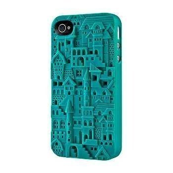 iPhone 4 / 4S SwitchEasy Avant-Garde Chateau Case SW-CHA4S-TU Turquoise