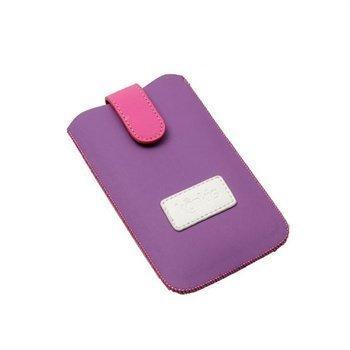 iPhone 4 / 4S i9300 Konkis Quick Up Kotelo Violetti