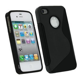 iPhone 4 / 4S iGadgitz Dual Tone TPU Case Black