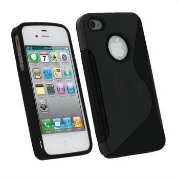 iPhone 4 / 4S iGadgitz Dual Tone TPU Case Black