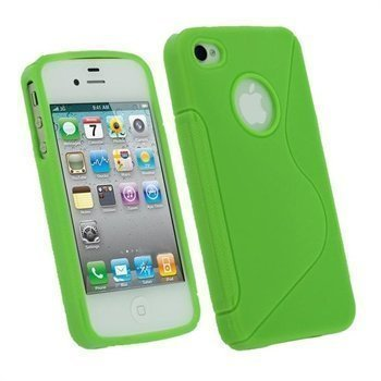 iPhone 4 / 4S iGadgitz Dual Tone TPU Case Green