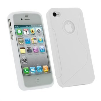 iPhone 4 / 4S iGadgitz Dual Tone TPU Case White