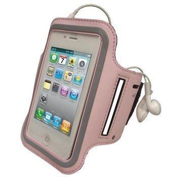 iPhone 4 / 4S iGadgitz Käsivarsikotelo Vaaleanpunainen