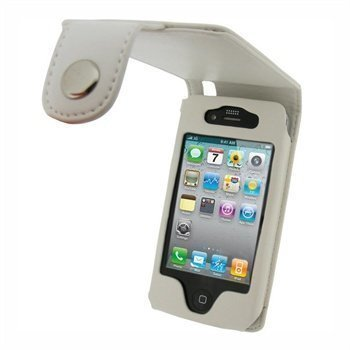 iPhone 4 / 4S iGadgitz Keinonahkakotelo Valkoinen