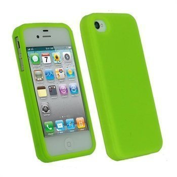 iPhone 4 / 4S iGadgitz Silicone Case Green
