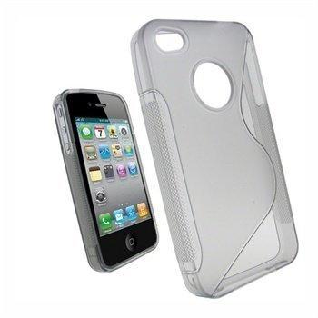 iPhone 4 / 4S iGadgitz TPU-Kotelo Läpinäkyvä
