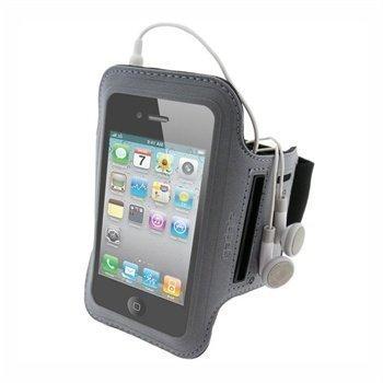 iPhone 4 / 4S iGadgitz Vettä Hylkivä Käsivarsikotelo Musta / Hopea