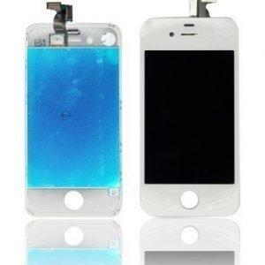 iPhone 4 LCD-näyttö + kosketuspaneeli Valkoinen