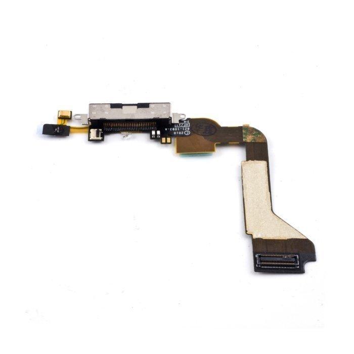 iPhone 4 Latausportti flex-kaapeli + mikrofoni Valkoinen