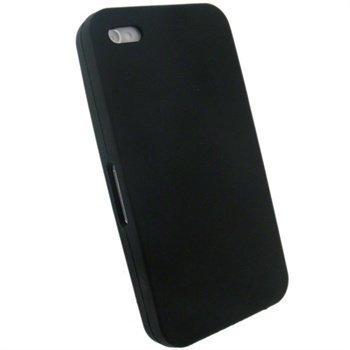 iPhone 4 iGadgitz Silikonikotelo Musta