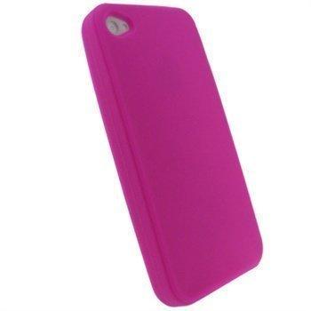 iPhone 4 iGadgitz Silikonikotelo Pinkki