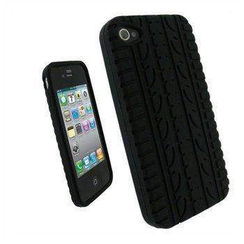 iPhone 4 iGadgitz Silikonikotelo Rengaskuviomuotoilu