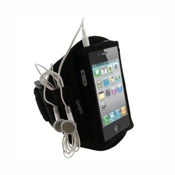 iPhone 4 iGadgitz Vedenkestävä Käsivarsikotelo Musta