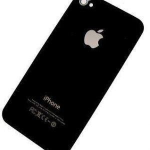 iPhone 4S Alkuperäinen takakansi Musta