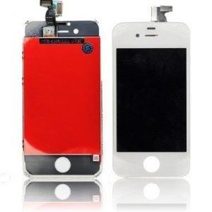 iPhone 4S LCD-näyttö + kosketuspaneeli Valkoinen