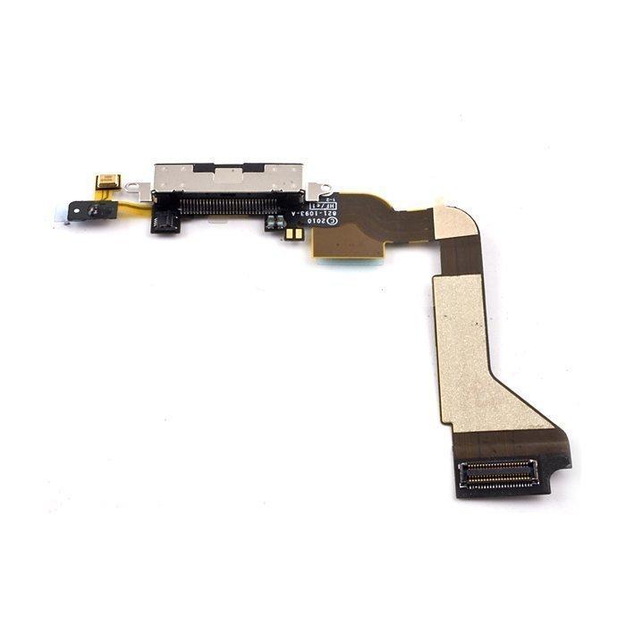 iPhone 4S Latausportti flex-kaapeli + mikrofoni Valkoinen