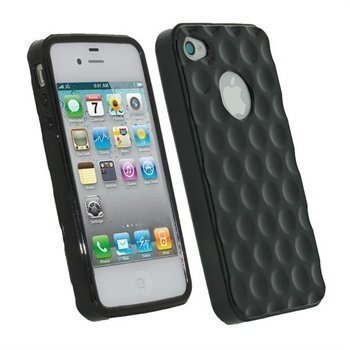 iPhone 4S iGadgitz Golf Ball TPU Case Black