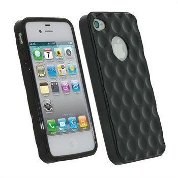 iPhone 4S iGadgitz Golf Ball TPU Case Black