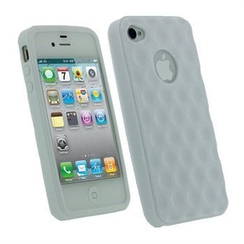iPhone 4S iGadgitz Golf Ball TPU Case White