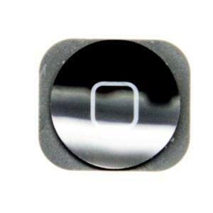 iPhone 5 / 5C Home-nappi+kumitarra Musta