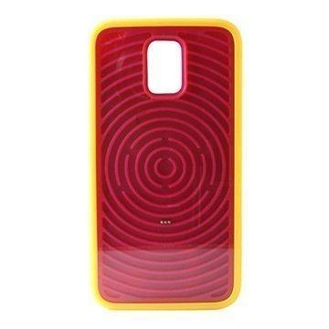 iPhone 5 / 5S Ksix Retro Peli Kova Kotelo Keltainen / Vaaleanpunainen