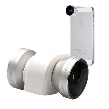 iPhone 5 / 5S Olloclip 4 in 1 Kameran Linssisarja Hopea / Valkoinen