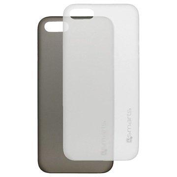iPhone 5 / 5S / SE 4smarts Bellevue Clip Ultraohut Kotelosarja Musta & Valkoinen