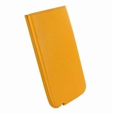 iPhone 5 / 5S / SE / 5C Piel Frama Nahkakotelo Keltainen