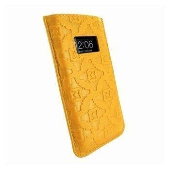 iPhone 5 / 5S / SE / 5C Piel Frama Pull Nahkakotelo Keltainen