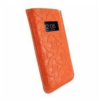 iPhone 5 / 5S / SE / 5C Piel Frama Pull Nahkakotelo Oranssi