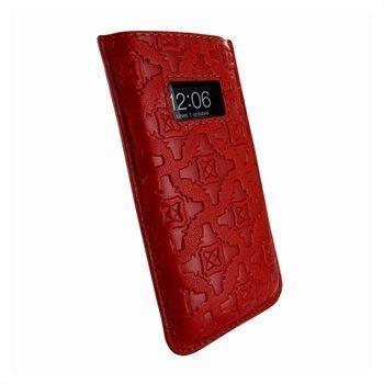 iPhone 5 / 5S / SE / 5C Piel Frama Pull Nahkakotelo Punainen