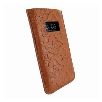 iPhone 5 / 5S / SE / 5C Piel Frama Pull Nahkakotelo Ruskea