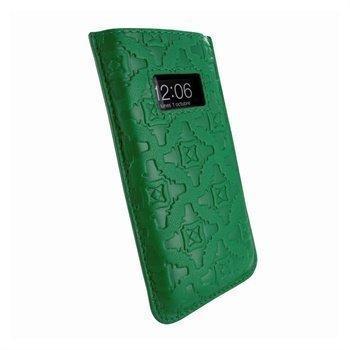 iPhone 5 / 5S / SE / 5C Piel Frama Pull Nahkakotelo Tummanvihreä