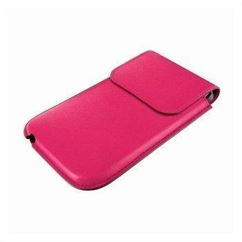 iPhone 5 / 5S / SE / 5C Piel Frama Unipur Nahkakotelo Fuksia