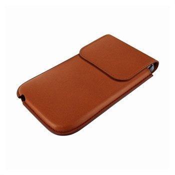 iPhone 5 / 5S / SE / 5C Piel Frama Unipur Nahkakotelo Ruskea