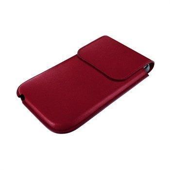 iPhone 5 / 5S / SE / 5C Piel Frama Unipur Nahkakotelo Viininpunainen