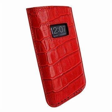 iPhone 5 / 5S / SE / 5C Piel Frama Vetohihna Nahkakotelo Krokotiili Punainen