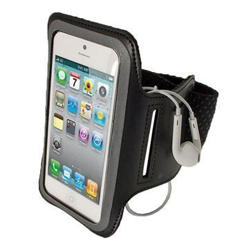 iPhone 5 / 5S / SE / 5C iGadgitz Anti-Slip Neoprene Armband Black