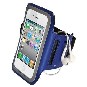 iPhone 5 / 5S / SE / 5C iGadgitz Anti-Slip Neoprene Armband Blue