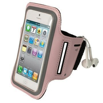 iPhone 5 / 5S / SE / 5C iGadgitz Anti-Slip Neoprene Armband Pink
