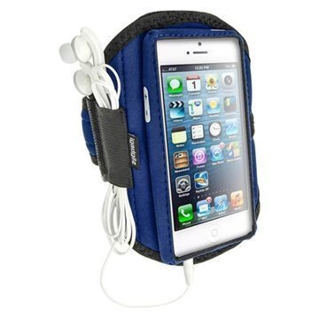 iPhone 5 / 5S / SE / 5C iGadgitz Neoprene Sports Jogging Armband Blue