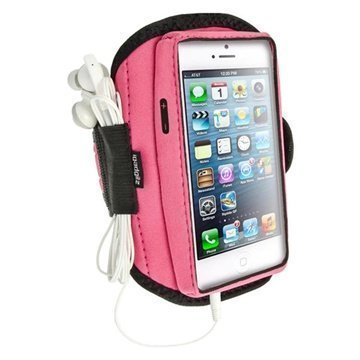 iPhone 5 / 5S / SE / 5C iGadgitz Neoprene Sports Jogging Armband Pink