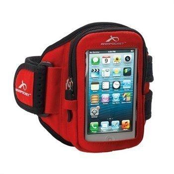 iPhone 5 / 5S / SE Armpocket I-10 Käsivarsikotelo M Punainen