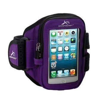 iPhone 5 / 5S / SE Armpocket I-10 Käsivarsikotelo M Violetti