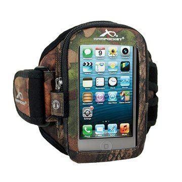 iPhone 5 / 5S / SE Armpocket i-10 Käsivarsikotelo M Maastokuvio Puu